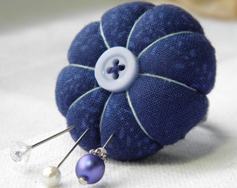 Indigo Blue Pincushion Ring