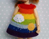 OOAK Yosd/LittleFee 3 Pc Outfit Set Rainbow Connection