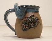 Dragon - Wake and Bake Small  Mug....  MUG and a PIPE.... AWESOME !!!  .......   a73