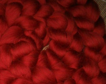Superwash Roving 4 Ounces Five Alarm Red