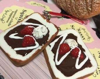 SASSY SQUISHIES Squishy Party Favor Gift Collection Hobby in Small Nutella Breakfast Toast