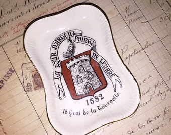 Longchamp-France-Porcelain-Tray-Restaurant-La-Tour-Argent-Poinct-Ne-Leurre