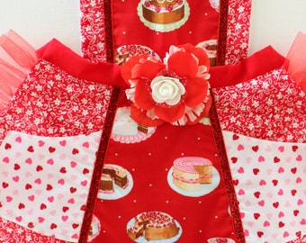 Bakery Cakes, toddler apron, girls apron, accesories, apron, dress up, costume