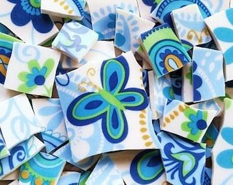 Mosaic Tiles-Alluring- flowers and butterflies 80 tiles