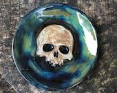 Skull Spoon Rest in Blue/Green