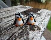 Penguin  pair ,  Lampwork Bead Pair, Simply Lampwork by Nancy Gant, SRA G55