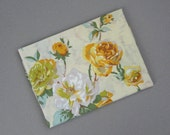 1970s Wondercale Springmaid Pillowcase  Yellow Roses Standard Size Flower Pillow Case Vintage Bedding