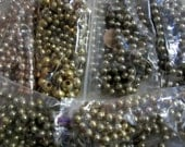 Vintage Mercury Glass Gold Bead Garland Christmas Tree Garland Decoration 7 packages