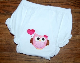 Baby Bloomers / Diaper Covers /Valentine Diaper Cover / Embroidered Diaper Covers / Bloomers / Ready to ship Size 12-18 mos