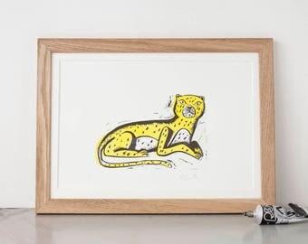 Grumpy Leopard print