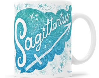 Sagittarius Zodiac Sign Birthday Mug Sagittarius Zodiac Mug Horoscope Gift Zodiac Gift Astrology Present Metaphysical Gift Sagittarius Zodia