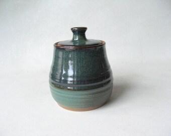 Pottery Lidded Jar Brown Sugar Jar