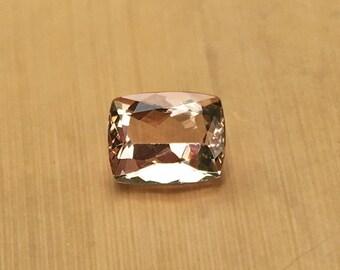Natural Genuine Morganite - 8.18 x 10.20mm, 5.96mm deep Rectangular Cushion shape Loose Peach Pink Morganite Gemstone, 3.72 carats - LSG910