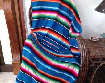 Vintage Serape Saltillo Blanket *