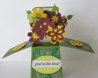You're the Best! Greeting Card In A Box Pop Up Card