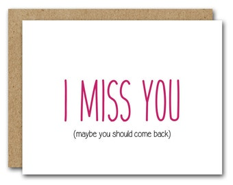 I Miss You Card, Miss You Card, INSTANT DOWNLOAD, Friendship Card, Long Distance Card, Boyfriend Card, Girlfriend Card, Friendship Card