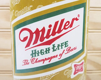 Vintage Beer Glass Miller High Life Pedestal Footed Extra Large Retro Bar Drinking Champagne Of Beers