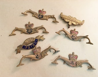 Brass Trophy Adornments for Crafting and Jewelry Creations   Vintage British Trophy Adornments   Steampunk Jewelry Pieces