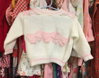 80s Bow Sweater 9/12 Months