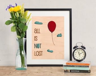 All is Not Lost - Wood Art