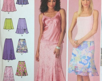 UNCUT Sewing Pattern  Simplicity 4138 Misses' Skirts Size 6-16 Waist 24-30 inches UNCUT  Complete
