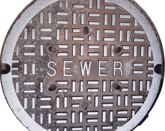 "DOORMAT - NYC ""SEWER"" Sewer Cover Doormat - Original Photography"