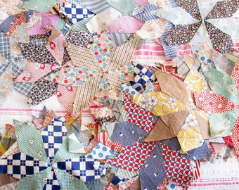 Seeing Stars...Colorful Vintage 30s-40s Patchwork Quilt Blocks