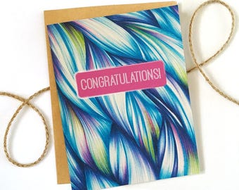 Congratulations Card - Wedding Congratulations - Anniversary Card - New Job - Promotion - New Baby - Congrats - Retirement Card - Pregnancy