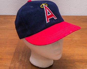 California Angels 1990s vintage baseball cap - fitted stretch back - Los Angeles Angels of Anaheim