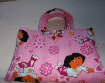 Kids Crayon Caddy Activity Case Dora Pink Art Children