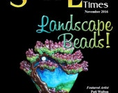 Nov 2016 Soda Lime Times Lampworking Magazine - Landscape Beads - (PDF) - by Diane Woodall