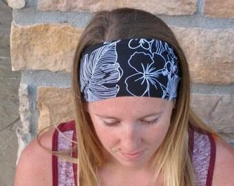 Black and White Sport Headband / Running Headband / Stretch Headband/ Comfortable Hairband/ Women's Gift Best Selling Headband