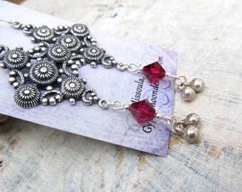 silver gypsy earrings Bohemian Jewelry