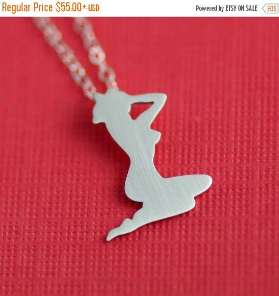 50% OFF SALE 1950's Pin-Up Girl Necklace. Womens Figure. Marilyn Monroe Necklace. Retro Jewelry. Gifts for Her. Rockabilly Necklace. Sterlin