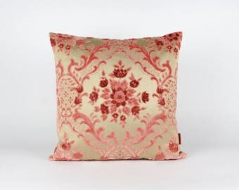 Pink Cut Velvet Pillow Cover | Chenille Cushion Cover | Decorative Throw Pillow Case | Shabby Chic | Luxury Designer Pillow by EllaOsix