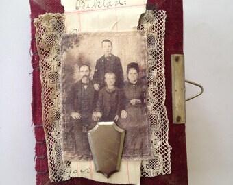 Handbound Art Journal - Red velvet