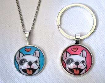 French Bulldog Jewelry, French Bulldog Necklace, French Bulldog, Frenchie, French Bulldog Ring, Animal Jewelry Rings, Dog Mom, Bulldog Charm