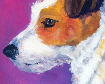Jack Russell Terrier Art Print of Original Watercolor Painting - 11x14