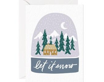 let it snowglobe card