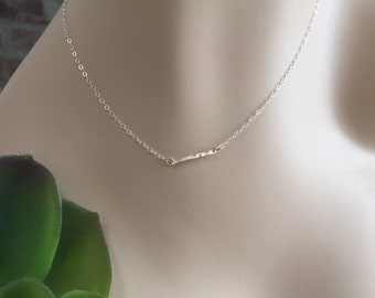 Gold-filled Bar Two Tone Chain Layering Necklace