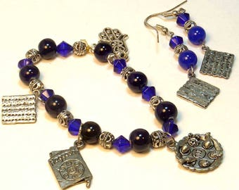 Passover Matzah 4 Charm Bracelet Set
