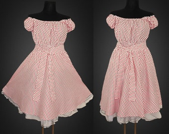 Summer 40s 50s STARS Rockabilly swing DRESS Pin Up Plus Size  22 24 26 White and Red Star Retro Party 3X 4X