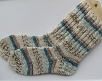 Hand knit Socks, Multicolor Socks, Superwash Merino and Nylon Socks