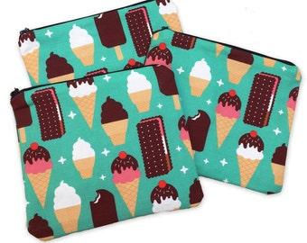 Ice Cream Treats Zipper Pouch - Coin Purse