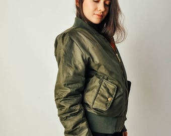 ON SALE Green Bomber Jacket