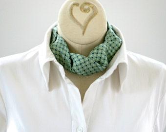 Necktie Choker - Statement Necklace - Upcycled Tie - Necktie Necklace - Hipster Clothing - Silk Green Choker. 07