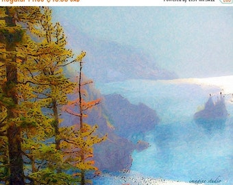 SALE-35% OFF, Nature, Modern Landscape, Springtime, Fine Art Print, Giclee Archival Print, Photomontage, Collage, Painted Photographs,