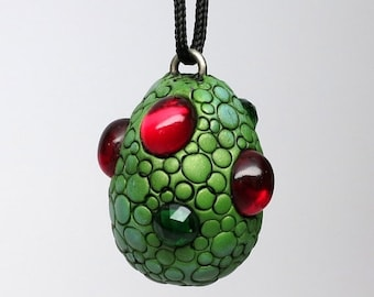 HalfOffSale Super SALE! Dragon Egg Necklace, Polymer clay and Vintage Cabochons