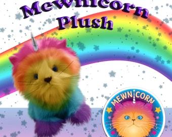 Mewnicorn cat unicorn plush