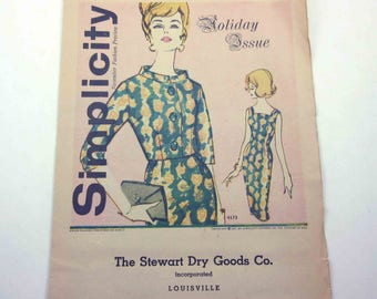 Simplicity Fashion Preview Vintage 1960s Holiday Issue November 1961 Pattern Booklet The Stewart Dry Goods Co. Louisville KY